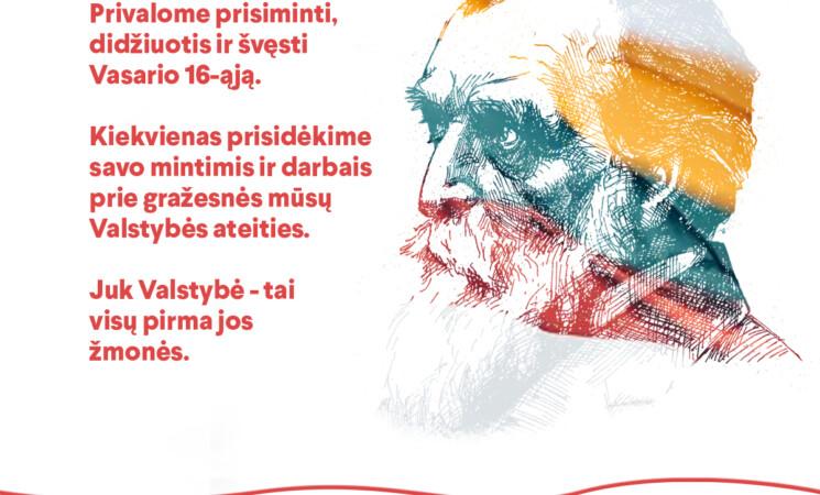 Klaipėdos socialdemokratų sveikinimai vasario 16-osios – Lietuvos valstybės atkūrimo dienos proga!