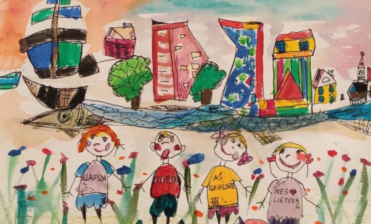 """Sveikiname piešinių konkurso """"Nupieškime Nepriklausomybės atkūrimo dieną švenčiančią Klaipėdą"""" nugalėtojus"""