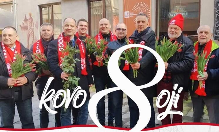 Klaipėdos socialdemokratai siunčia kuo nuoširdžiausius sveikinimus moterims