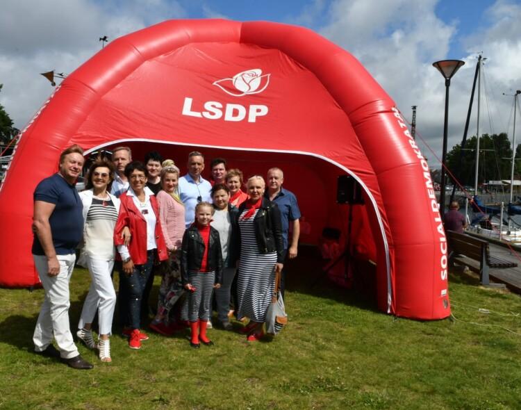 Jūros šventė: liepos 24 d. LSDP palapinėje Jūsų lauks Klaipėdos socialdemokratai!